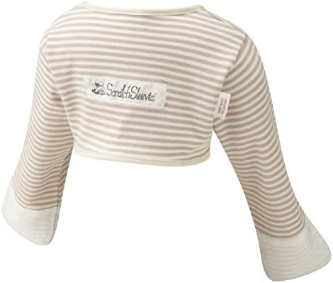 ScratchSleeves Baby Boys Stay On Scratch Mitts Stripes Cappuccino and Cream 21 2 product image