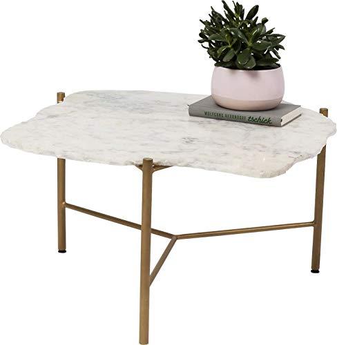Kare Piedra Table Basse Blanc 76 x 72 cm