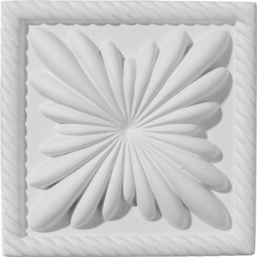 Ekena Millwork PB04X04CO 4 3/8-Inch W x 4 3/8-Inch H x 1-Inch P Cole Plinth Block