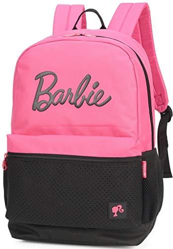 Mochila Feminina Escolar Da Barbie Juvenil Impermeável Grande Costa