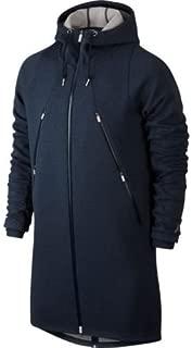 Nike Air Jordan Long Length Full Zip Fleece Parka Hoodie Jacket