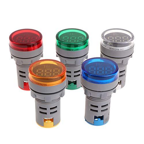 JunYe Indicatore LED 22mm Misuratore di frequenza AC Elettricit/à Indicatore Hertz Hz Luce Pilota Blu