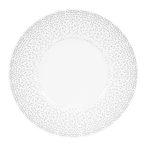 Table Passion - assiette plate 27 cm éole gris (lot de 6)