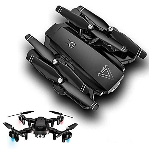 Drone con doppia fotocamera per adulti, drone pieghevole 4K, drone a quattro assi, con grandangolo 120 °, controllo dei gesti, mantenimento dell'altitudine, modalità senza testa, decollo/atterraggi