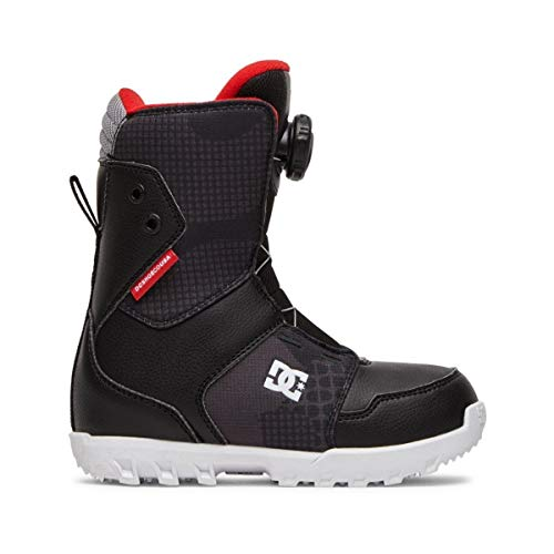 DC Youth Scout BOA Snowboard Boots Black 2 4 Big Kid M
