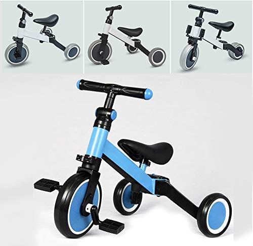 Smart panda Kinder Laufrad Spielzeug - Kinder Dreirad - Kinder Dreirad Fahrrad Baby leichtes Klappauto 1-2 Jahre alt 6 Baby Fahrrad, Blue