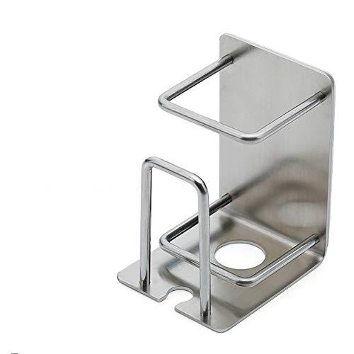 2pezzi in acciaio INOX portabicchieri portaspazzolino a parete autoadesivi per bagno, porta spazzolino elettrico di ventosa colla stick per casa hotel cucina set di accessori (2posti)