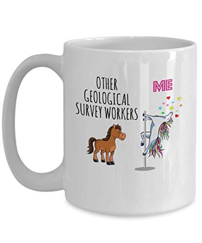 Geologiczna ankieta pracownik jednorożec kubek do kawy inne i mnie zabawny kubek doceniający pracę urocze pomysły na prezent
