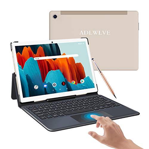 Tablet 10.8 Pulgadas, 10-Core 6 GB RAM 128GB ROM/512GB Expandido Android 10.0 Ultrar-Rápido Tablets 5G WiFi /4G LTE Dual SIM / 8000mAh (GPS, OTG, Netfilix,Type-C) - Certificación Google GMS (Oro)