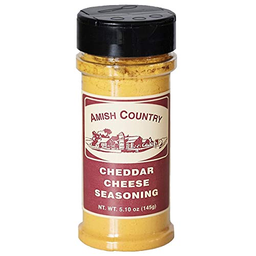 Amish Country Popcorn | Cheddar Cheese Popcorn Seasoning - 5.1 oz | Old Fashioned with Recipe Guide