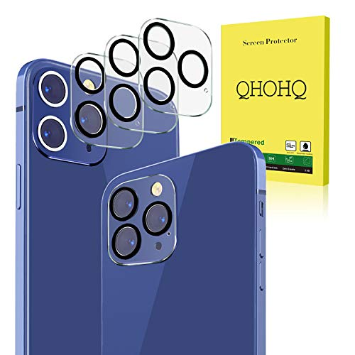[3 Pack] QHOHQ Camera Lens Protector for iPhone 12 Pro Max [6.7 Inch],Tempered Glass Film,[Easy to Install] [9H Hardness] Anti-Scratch Screen Protector,[AR Anti-Reflection] Does not Affect Night Shots