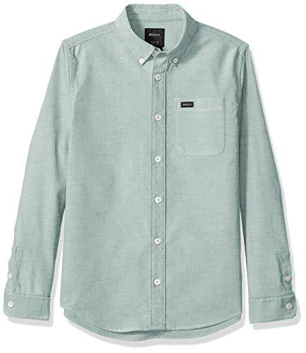 RVCA Jungen Thatll DO Stretch Long Sleeve Woven UP Shirt Button Down Hemd, blau, Groß