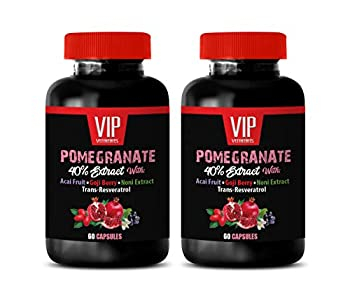 Weight Loss Fat Burner Supplements - Pomegranate Extract Formula - with ACAI NONI RESVERATROL and Goji Berry - Elderberry Extract Pills - 2 Bottles 120 Capsules