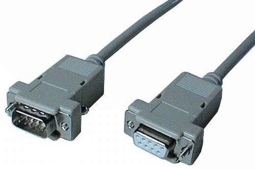 VS-ELECTRONIC - 271084 SUB-D verlengkabel, 9-polig, stekker op bus, 1:1, voering, 5 m lengte MVK02M5