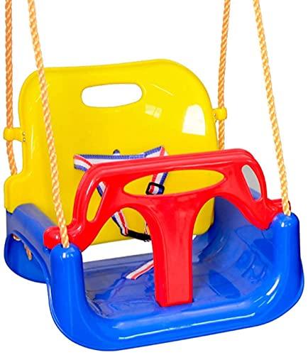 MiduoHu 3 En 1 Columpios Infantiles para Bebés Niños Cinturón de Seguridad Desmontable Multifuncional, para Casa Jardín Interiores o Exteriores