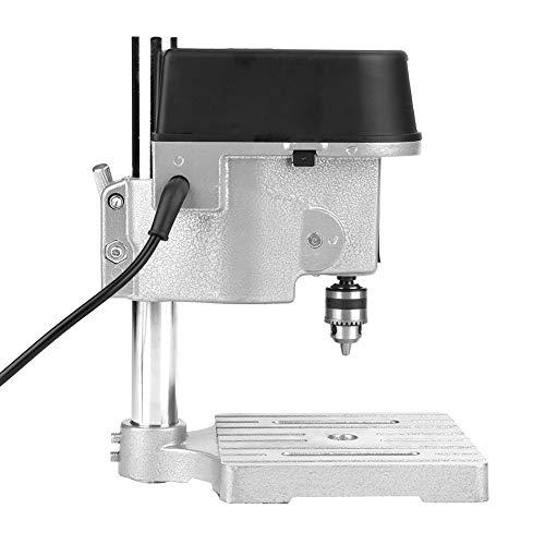 Mini mesa de prensa de taladro, banco de trabajo de prensa de taladro Banco de taladro de madera Buena estabilidad Velocidad ajustable Efectivo con portabrocas para taladrar agujeros para