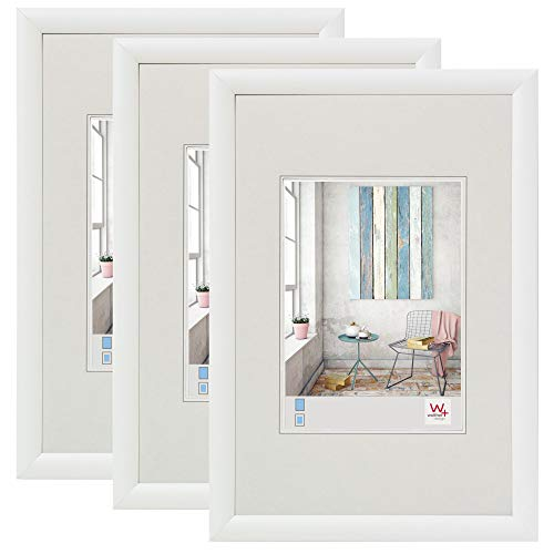 walther design KP030W 3er Pack Trendstyle Kunststoffrahmen 20x30 cm, weiß