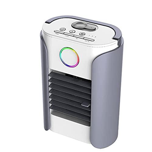 HGJINFANF USB Multifunción Portátil Acondicionado Ventilador Humidificador Aire Acondicionado Escritorio Hogar Aire Enfriador de Aire Bocina de Diente Azul Máquina de En