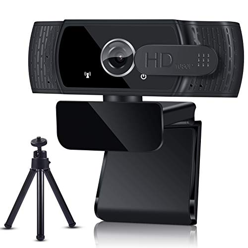 GUUKIN 1080P Webcam mit Mikrofon Sichtschutz Stativ Full HD Autofokus Webkamera fur Konferenzen Videoanrufe Spielen Aufnahme und Streaming