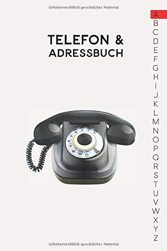 Telefon & Adressbuch: Ca. A5-Format für Adressen, Telefonnummer und Geburtstage mit A-Z Register