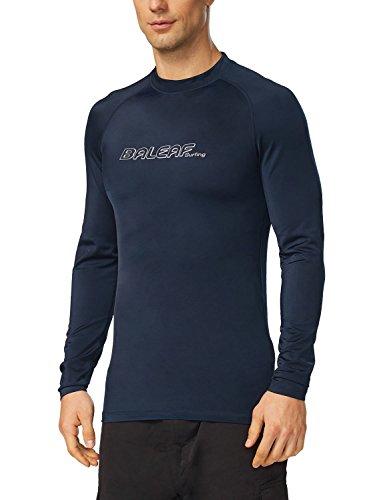 BALEAF Men's Long Sleeve Rashguard Sun Protective Swim Shirt UPF 50+ New Navy Size XL