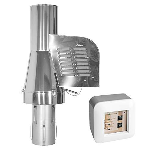 Subtiel 6019-SRV-0-6059 Rauchgasventilator GCK150 mit verlängertem Einschub + 12-Stufen-Regler Aufputz