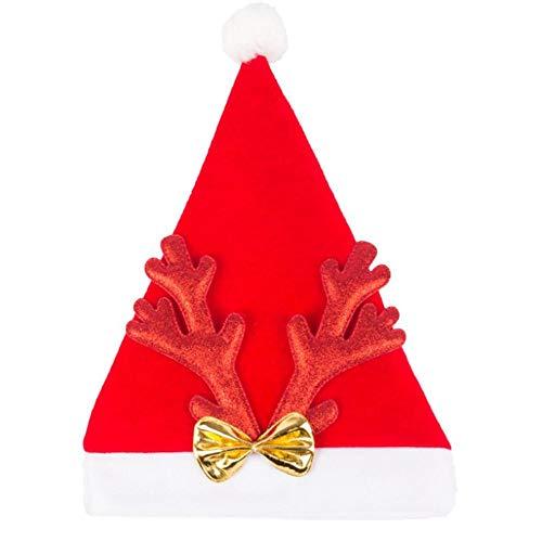 LiféUP Cappello di Corna di Natale, Cappello in Costume da Festa in Velluto per Bambini Adulti