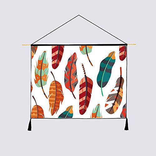 NPYANYAN Stof wandtapijt achtergrond muur katoen linnen opknoping doek nachtkastje bank achtergrond doek decoratie schilderij, Kleur