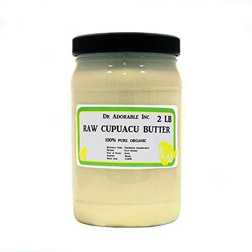 Manteca exótica pura y orgánica Cupuacu sin refinar prensado en frío, 32 oz/2 lb