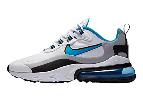 Nike Men's Air Max 270 React White/Laser Blue-Wolf Grey (CT1280 101) - 11.5