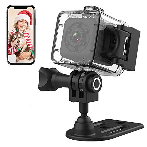Mini cámara oculta inalámbrica con cámara de vídeo 1080P cámara de acción, convierte la cámara de seguridad para niñera con visión nocturna y movimiento activado para deportes al aire libre