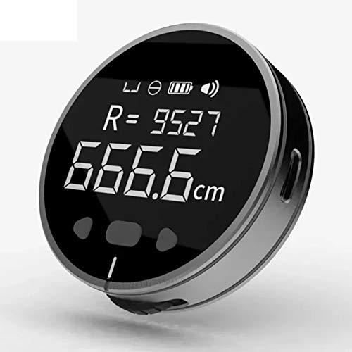 TSMALL Righello Elettrico Multifunzionale, Righello Ricaricabile con Schermo LCD HD Lungo Standby, misurazione della Lunghezza 99M, misuratore di Distanza per la misurazione del Volume,Argento