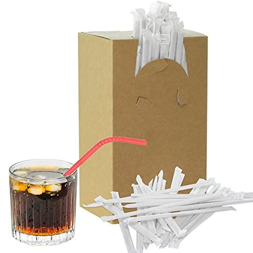 250 cannucce di carta flessibili per bevande, cannucce di carta, per feste, bar, bevande, cocktail, compleanni, usa e getta, biodegradabili