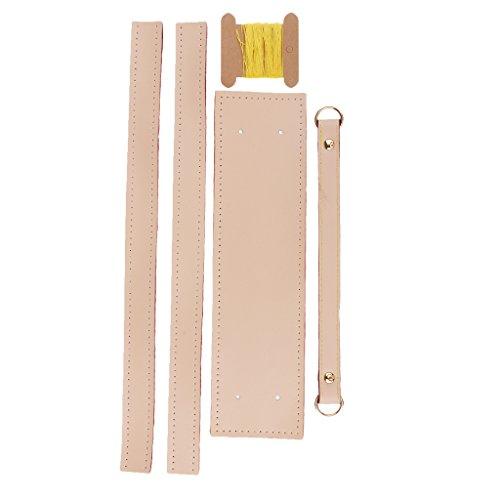 D DOLITY 5tlg. Handtasche Griffe Taschengriff Taschenhenkel Zubehör DIY Nähen - Rosa