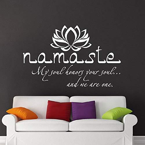 Wandaufkleber Lotusaufkleber Wandaufkleber Modernes Schlafzimmerdekor Yoga Studio Dekor Wandaufkleber57X36 CM