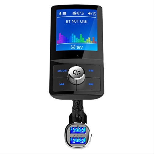 """Lebron ray Bluetooth FM Transmitter Autoradio-Empfänger Audio-Adapter, Freisprech-Player Mit 2 USB-Anschlüssen Und Audio-EIN- / Ausgang TF-Karte, 1,4\""""Großbildschirm"""