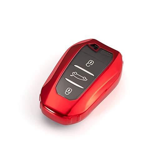 DLDBB Funda Suave de TPU para Llave Inteligente para Coche, Cubierta Completa, Accesorios de Estilo automático, para Peugeot 3008208308508408 2008307 4008 20162018