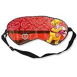 DJNGN Máscara para dormir de Anime Winnie The Pooh, venda personalizada, cubierta de ojos suave y cómoda, cubierta de ojos opaca (una correa)