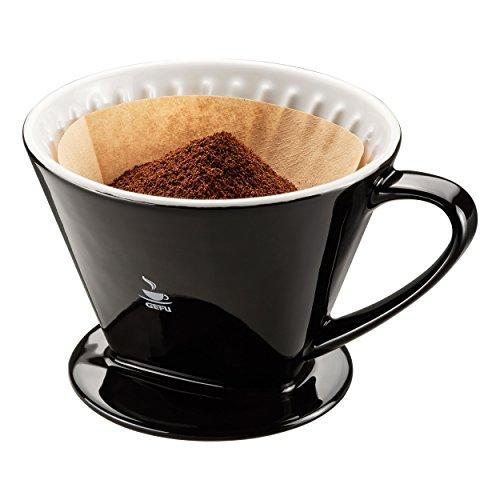 Gefu Stefano Kaffeefilter Gr. 4, Kaffee Filter, Kaffeebereiter, Filtereinsatz, Steingut, 11 cm, 16021