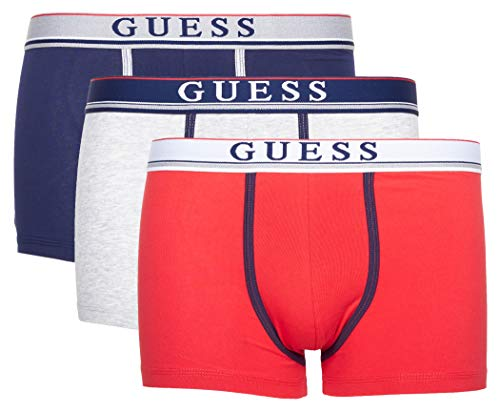 Guess Herren Boxershorts Boxer Trunk 3 Pack (XL, Grey Combo)