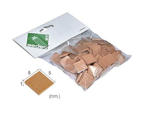 Outletdelocio. Aedes 2212. Piezas de Ceramica para Hacer tejados en construcciones de Miniatura. Color Rojo. Bolsa de 300 Unidades