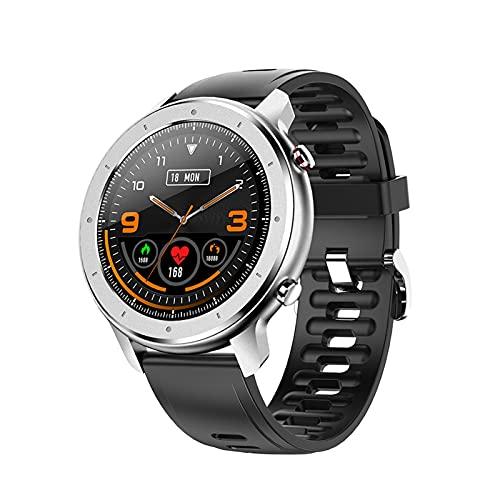YQCH Reloj inteligente Fitneaa Tracker de pantalla completa de 1.3 pulgadas con IP68 impermeable presión arterial frecuencia cardíaca, oxígeno en sangre, podómetro, reloj deportivo (color B: B)