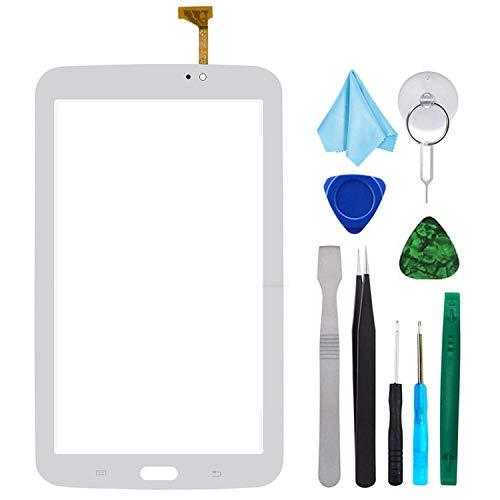 Tefir Bianco Touch Repair Glass per Samsung Galaxy Tab 3 7.0 SM-T210 T210R T210L T217S 217A(No LCD) con Adesivo e Strumenti