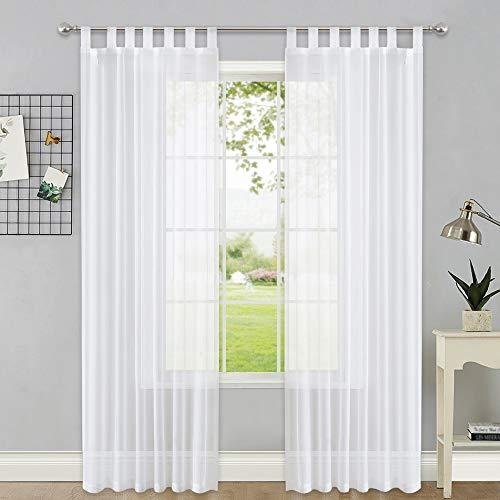 cortinas blancas dormitorio largas