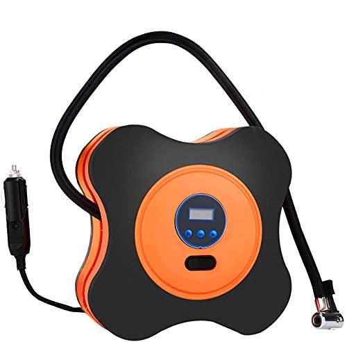 PullPritt Compressore Aria Portatile Auto, 12V Digitale Compressore d'Aria Portatile per Auto, Camion, Biciclette, palloni da Basket, motoscafi
