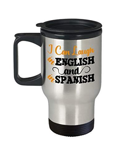 Thomas655 Spaanleraar reisbeker cadeau tweetalige beker leraar waardewaardering Spaans Spreken Leren u Spaans Habla Espanol Geïsoleerde beker