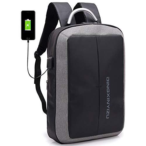 Mochilaparaportátilconpuerto de carga USB y auriculares,mochila de viaje de negocios,resistente al agua,antirrobo,mochila casual,aptoparaportátilde15,6 pulgadas y universidad