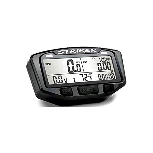 Trail Tech 712-119 Black Striker Speedometer Digital Gauge Kit with Volt Meter