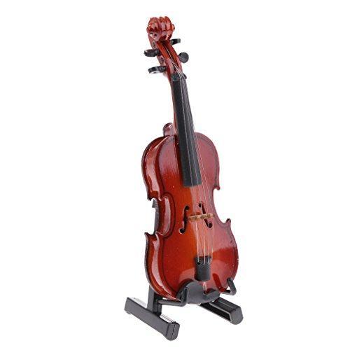 1/6 Mini Holz Violine Mit Box Musikinstrument Für 12'' Aktion Figuren Zubehör - 10 x 2,8 cm - 10 x 2,8 cm