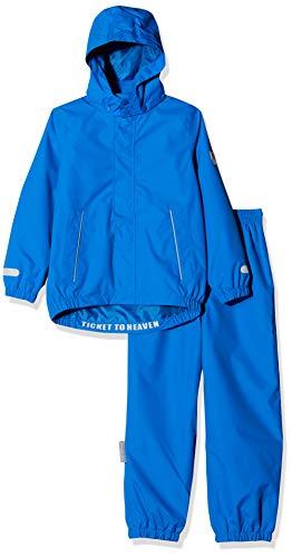 Ticket to Heaven Jungen Regenanzug 2tlg. Plain m. Abnehmbarer Kapuze Schneeanzug, Blau (Princess Blue 3123), (Herstellergröße: 134)
